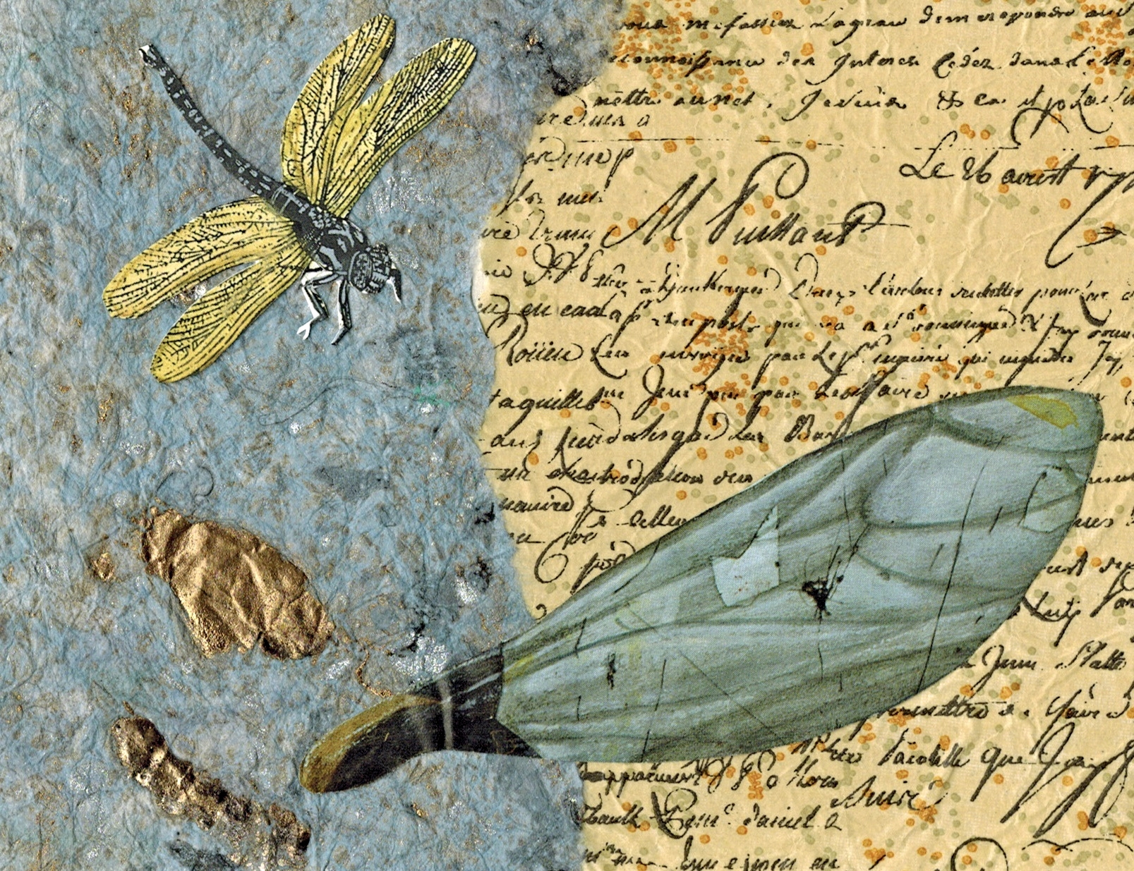 Dragonfly Mixed Media art