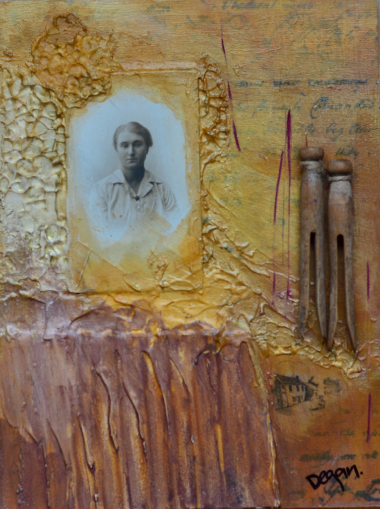 Homesteader Mixed Media art